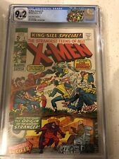 X-MEN KING SIZE SPECIAL ANNUAL #1 CGC 9.2 RARE WHITE PAGES X-MEN VS AVENGERS MCU