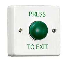 Vert dôme demande à sortie bouton pour porte d'entrée de contrôle d'accès utilisé par les pros