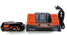 New 18 Volt Ridgid R840085 Battery & Duel Chemistry 9.6V - 18V R840093 Charger