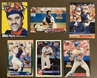 HOFer Mike Piazza 6-card lot '93-'95, 2 ROOKIE CARDS: 1993 Donruss, 1993 Ultra