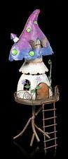 Elfen Metall Pilz Haus - Mushroom Heights - Fantasy Feenhaus Garten Wohndeko