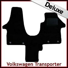 VW Transporter T5 Single Passenger 2003-2015 Tailored LUX 1300g Carpet Mat BLACK