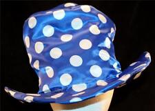 UNISEX Handmade Blue Polka Dot Clown Joker Costume Sexy Halloween Top Hat Cap US