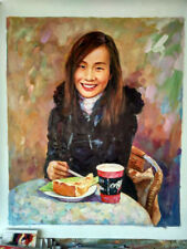 Commission Famiy Portrait Oil Painting From Photo Impressionist Style Custom Art