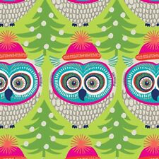"""Winter Owl Tissue Paper # 827 -- 10 large sheets 20"""" x 30"""" - Christmas Tissue"""