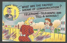 Ca 1934 PPC* Humor Comic Quiz What ARe The Fastest Means Of See Info