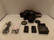 Canon EOS 7D 18.0MP Digital SLR Camera w/ Canon EF 50mm F/1.4 Lens & 2 Battery