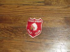 golf club, VINTAGE  patch,indian springs,marlton,new jersey, nOS, 1960's