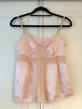 Ladies Whistles Cute Girly Pink Silk Satin Cami Vest Top Size 8