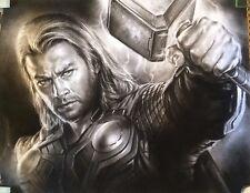 "Thor Avengers Marvel ART CHARCOAL DRAWING 8X10"""