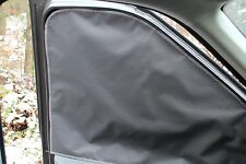 Low Roof Ford Transit Front Door Window Shades in black Radiant Barrier MAGNETS
