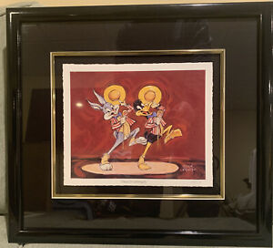 """Bugs Bunny+Daffy Duck """"Showstoppers"""" 14/375 L/E Warner Bros. Giclee  print."""