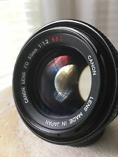 *Exc++++* Canon FD 55mm F1.2 SSC SLR Manual Focus Lens