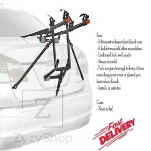 2 Bicycle Bike Rack Trunk Mount Carrier Car Minivan, SUV, Hatchback, Sedan