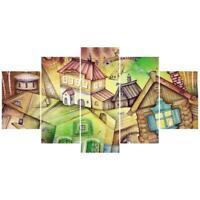 5pcs/set Modern Art Oil Landscape Painting Canvas Print Wall Picture Home Decor
