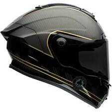Bell Race Star Ace Cafe Speed Check Black Gold Motorcycle Helmet | All Sizes