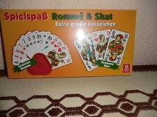 3 X ASS Senioren Romme mit Kartenhalter Extra große Eckzeichen und Karten 56X100