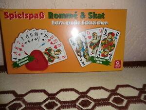 2 X ASS Senioren Romme mit Kartenhalter Extra große Eckzeichen und Karten 56X100