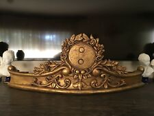 Luxury Victorian Gilt Gold Floral Bed Crown