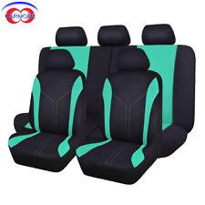 car Seat Covers Universal mint blue rear seat 40/60 50/50 split 11 pcs