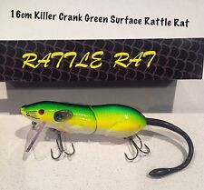 16cm Killer Crank Rattle Rat (green) Surface Cod Fishing Lure