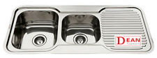Kitchen Sink Stainless Steel Double Bowl with Drainer