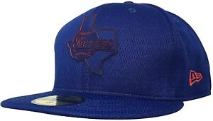 Texas Rangers New Era 59Fifty MLB Royal Blue Fitted Hat Cap  size 7 3/8
