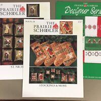 Lot of 3 Prairie Schooler Cross Stitch Charts St Nicholas Stockings Xmas Borders