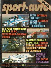 SPORT AUTO 194 1978 24H DAYTONA RALLYE SUEDE R5 ALPINE A110 FORD GT40 J STEWART