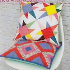 Stars & Stripes - foundation paper pieced cushion PATTERN - Tied with a Ribbon