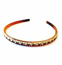 USA Handmade Headband Rhinestone Crystal Hairband Hairpin Bling Brown A05