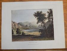 1821 Print, Aquatint Tour of English Lakes///KESWICK LAKE