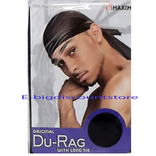 1PC Men's Du-RAG with LONG TIE Sports Wave Caps Head Wrap Beanie Black Fit all