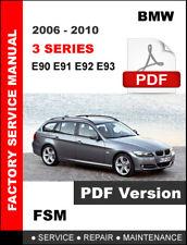 BMW 3 SERIES 2006 - 2010 E90 E91 E92 E93 WORKSHOP SERVICE REPAIR FACTORY MANUAL