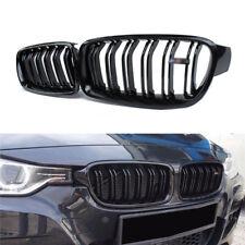 De 2 Pièces pour BMW F30 F31 320i 328i 335i Calandre Naseaux Grille Noir