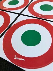 4er Set VESPA Aufkleber Sticker Schild Helm Motorroller Roller Italien Trikolore