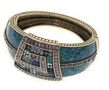 "HEIDI DAUS ""Grecian Glamor"" Crystal and Enamel Bangle Bracelet"
