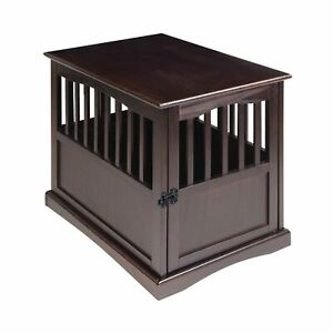 Casual Home 600 44 Pet Dog Supplies Pet Crate End Table Solid Wooden Espresso
