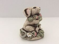 Vintage Ceramic Mouse holding Strawberries June Sears Heaven Hill Designs 3 1/4""