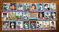 1976 CHICAGO CUBS Topps COMPLETE Baseball Team Set 24 Cards MATLOCK MONDAY ZAHN