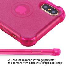 IPHONE X 10 XS PINK TRANSPARENT GLITTER TPU  CASE USA SELLER