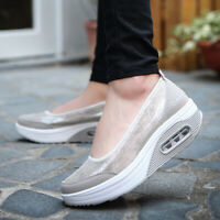 Women's Sneakers Sport Air Cushion Slip-On Breathable Mesh Walking Running Shoes