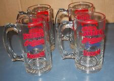 VTG LOT 4 MLB CLEVELAND INDIANS INAUGURAL SEASON '94 BEER STEINS GLASS MUGS