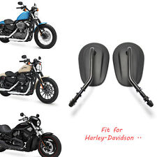 Black Tapered Motorcycle Rearview Mirrors For 2013 Harley Davidson Sportster 883