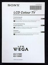 Operation Manual ★ SONY Colour TV KLV-17HR2 ★ KLV-15SR2 • Swed. & Dan. & Finnl.!