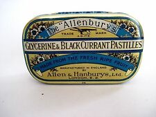 "Charming Vintage Advertising Tin for ""Allenburys"" Blackcurrant Pastilles *"