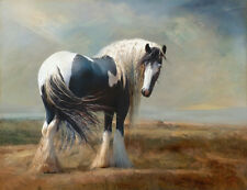 Draft Heavy Work Horse Landscape Painting Fine Art Quality Canvas Print