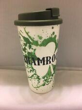 Travel Mug Green Irish St Patty's Day Shamrockin Plastic Cup w/Lid