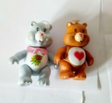 "Two 3"" 1980s Care Bear figurines figures"