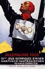 Winter Olympic Games Germany 1936 Ski Athlete Sport Vintage Poster Repro FREE SH